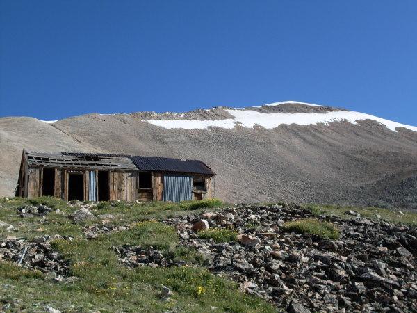 Mine building near Mount Sherman