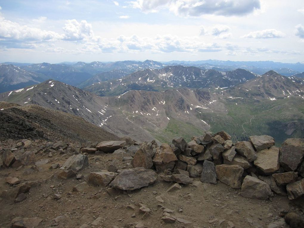View north from summit of Mount Elbert