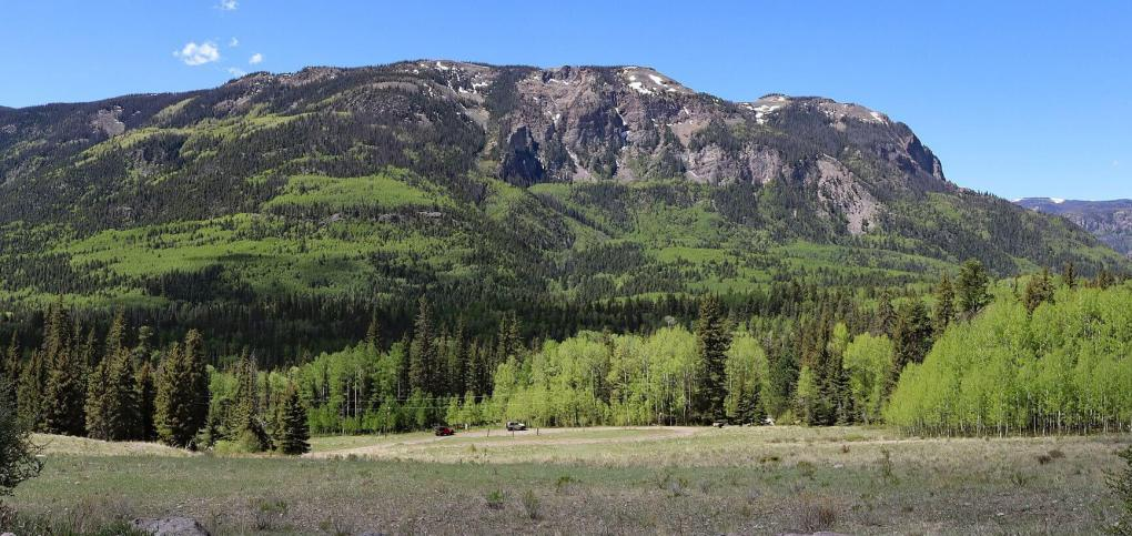 A mountain in the South San Juan Wilderness in southern Colorado.