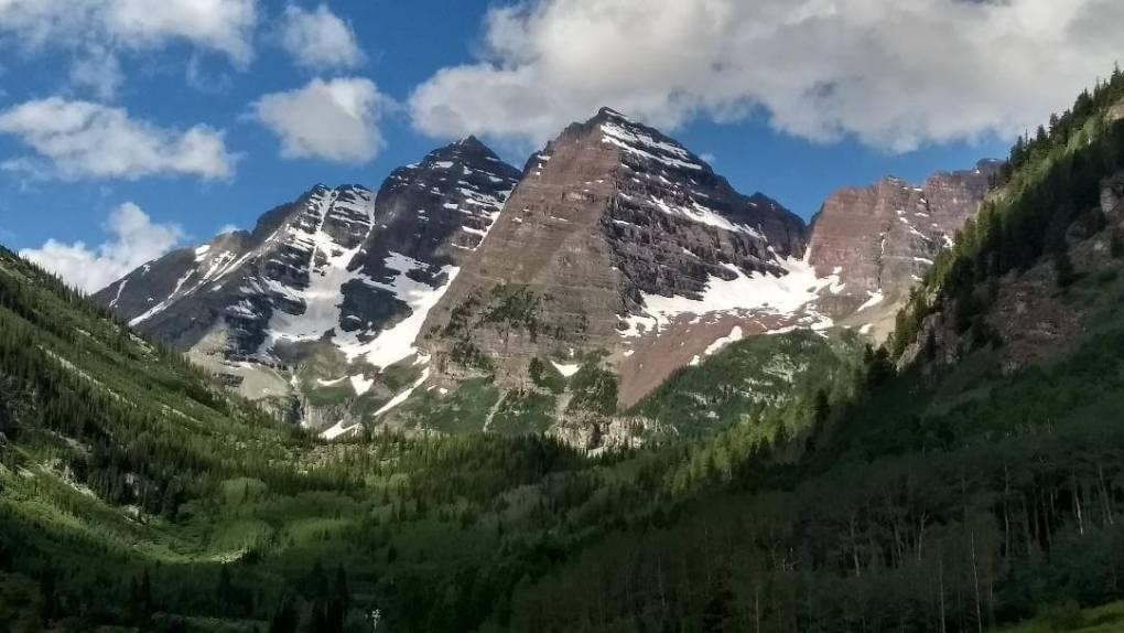 Maroon Bells in the Maroon Bells - Snowmass Wilderness