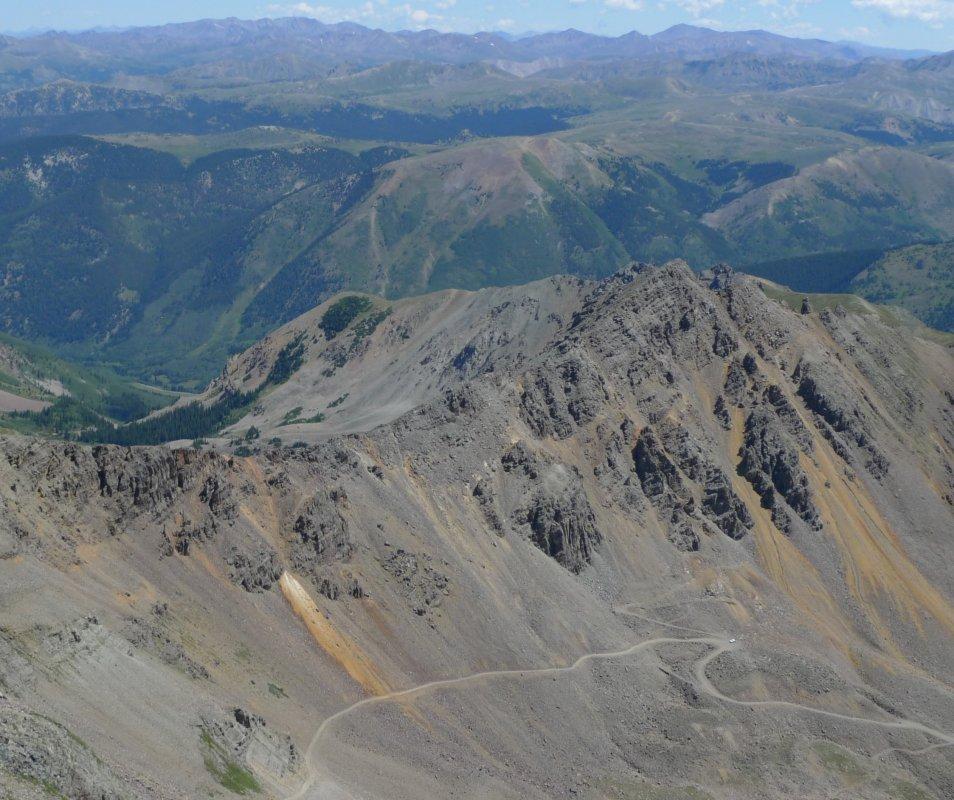 Montezuma Road up to Castle Peak