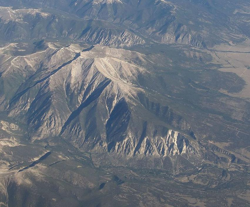 Mount Princeton Colorado from the air