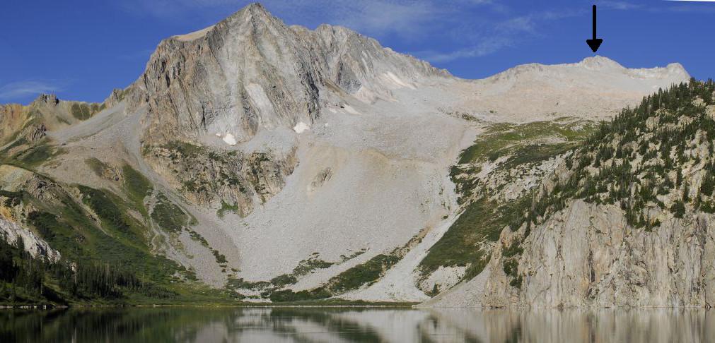Snowmass Mountain Summit Location