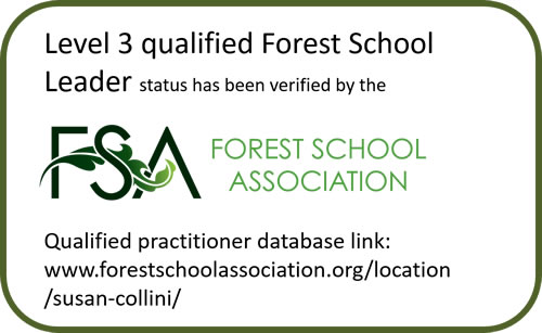 Forest School Association qualification details for Susan Collini