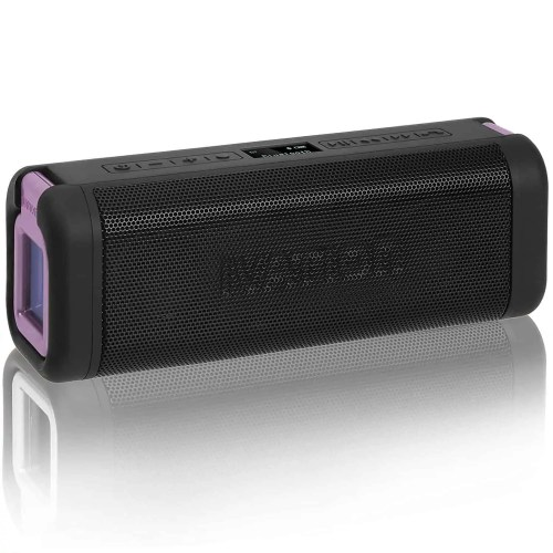 Ivation Portable Waterproof Bluetooth Speakers with Radio & LCD display
