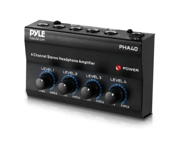 Pyle PHA40 4-Channel Stereo Headphone Amplifier