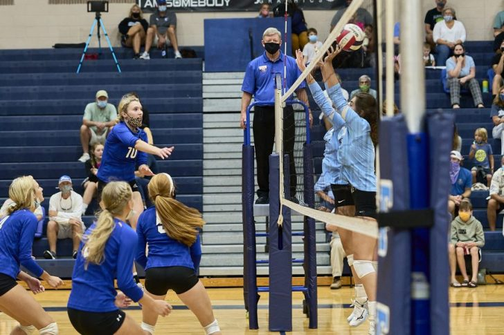 Camden County volleyball posts straight-set win over First Flight