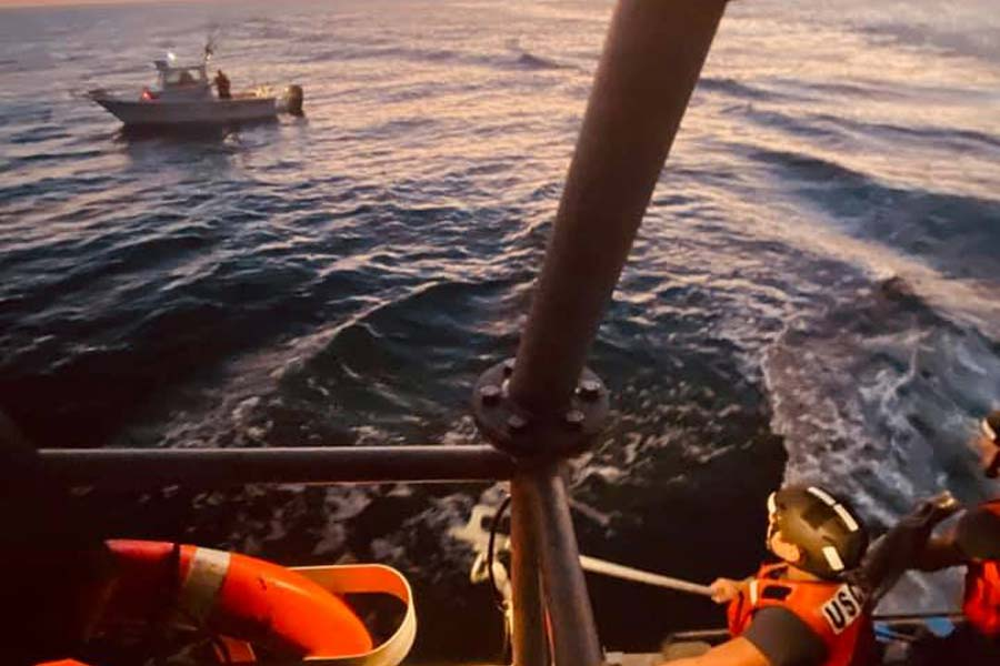 Coast Guard aids disabled boat near Hatteras Inlet