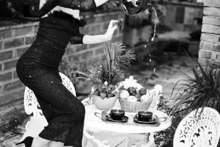 Woman Failing at Tea Party - What to Wear for Afternoon Tea
