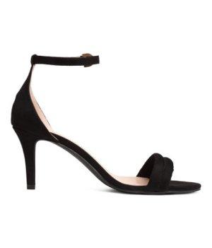 Strappy Black Heels by H&M