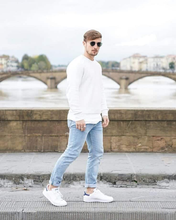 Men Outfit with White Shoes-16 Trendy Ways to Wear White Shoe