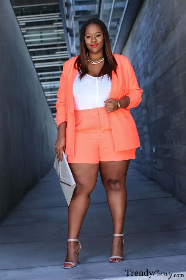 20 Ideas On How To Wear High Waisted Shorts For Plus Size