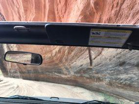 Canyon de Chelly road under rock ledge
