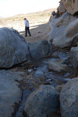 Frozen water at Rock Spring - Mojave Desert