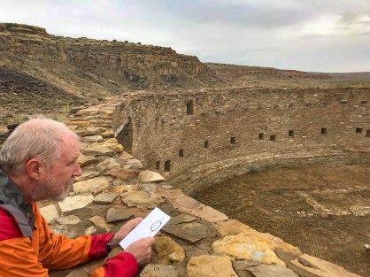 Contemplating the giant kiva