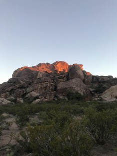 Hueco Tanks gets even more beautiful as the sun goes down