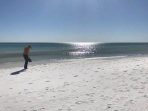 Sun sparkles onto the ocean