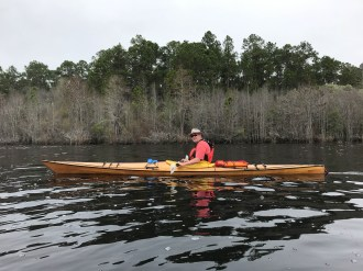 Bruce kayaking at Laura S. Walker State Park