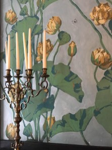 Amazing wallpaper at Plum Orchard estate