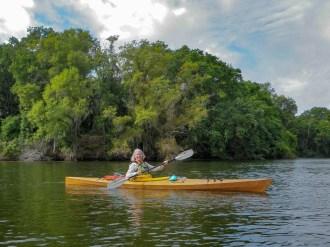 Joyce kayaking at Medard Park