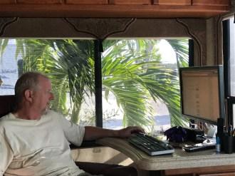 Bruce's tropical office Big Pine Key