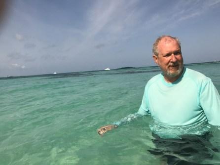 Bruce takes a snorkel break