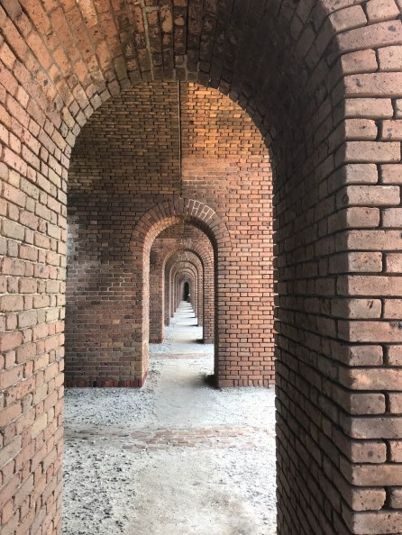Hundreds of archways at Fort Jefferson