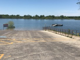 Flooded boat launch - Lake Whitney