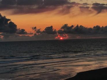 Eerie sunset at Ocean Shores