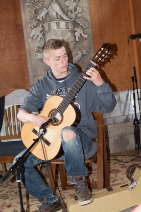 2013 Collin playing classical guitar