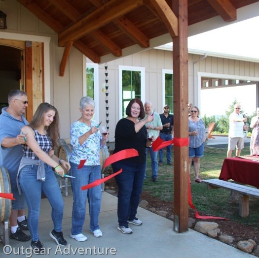 Grand Opening Ribbon Cutting Credit: Styring Vineyards