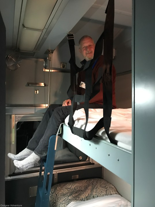 Bruce gets the upper bunk