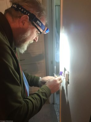 Bruce installs dimmer switch