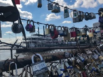 Locks at the pier in New Orleans