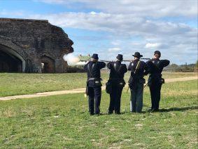 Fort Pickens black powder demonstration