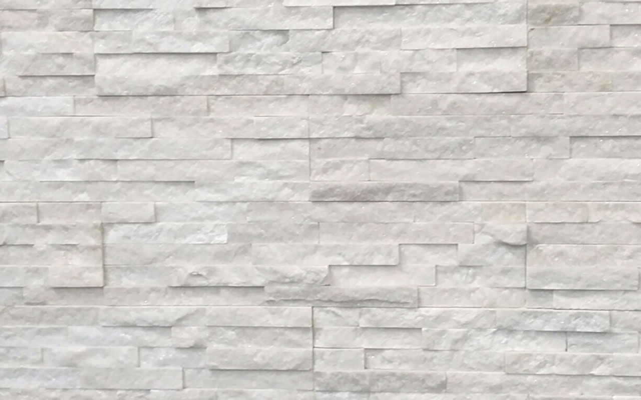 White Stone Cladding