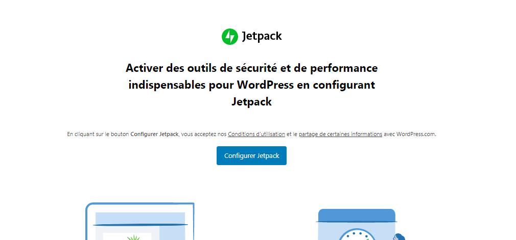 Jetpack : Configurer