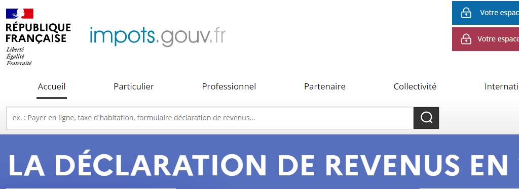 Site déclaration impôt