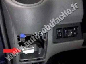 OBD2 connector location in Nissan NV200 (2009