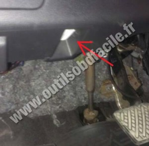 OBD2 connector location in Nissan Xtrail (2007  2013