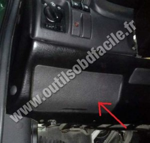 OBD2 connector location in Opel Astra F (1991  2000
