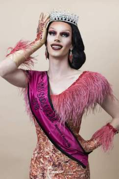 Scarlet Adams wearing a crown