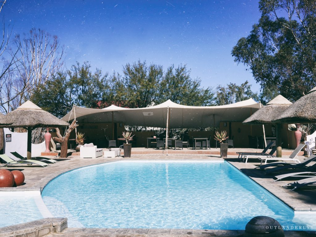 the pool at the Inverdoorn reserve