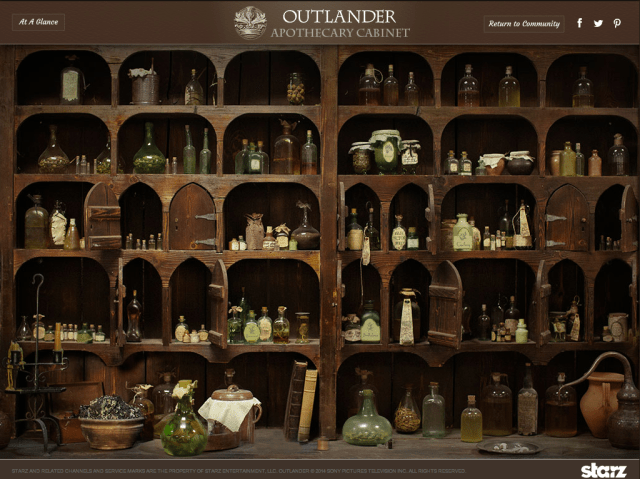 Claire's Apothecary Cabinet