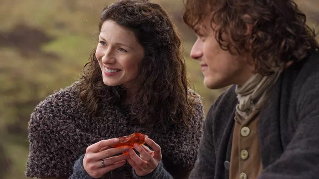 "Sam Heughan and Caitriona Balfe, ""Jamie Fraser"" and ""Claire Fraser"""