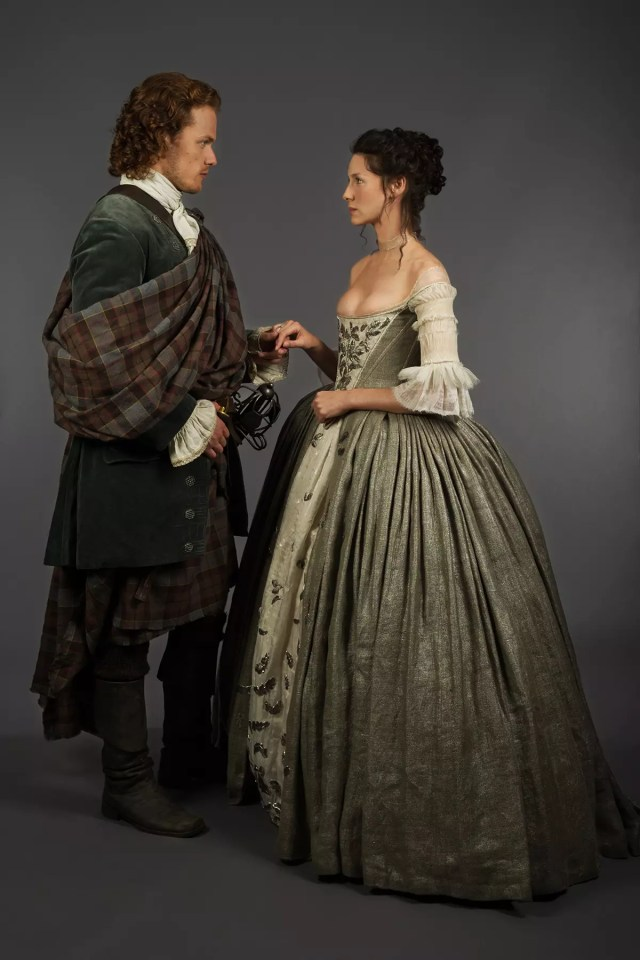 "Caitriona Balfe and Sam Heughan, ""Claire Fraser"" and ""Jamie Fraser"""