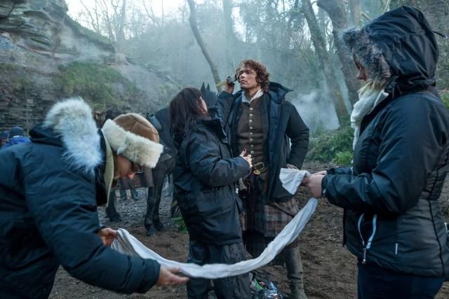 'Outlander' Season 1B Behind the Scenes, Jamie Fraser (Sam Heughan)