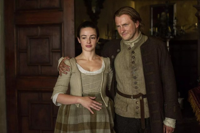 'Outlander' Season 1B, Jenny Fraser Murray (Laura Donnelly) and Ian Murray (Steven Cree)
