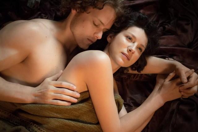 'Outlander' Season 1B, Jamie Fraser (Sam Heughan) and Claire Randall Fraser (Caitriona Balfe)
