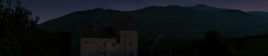 Lallybroch at night